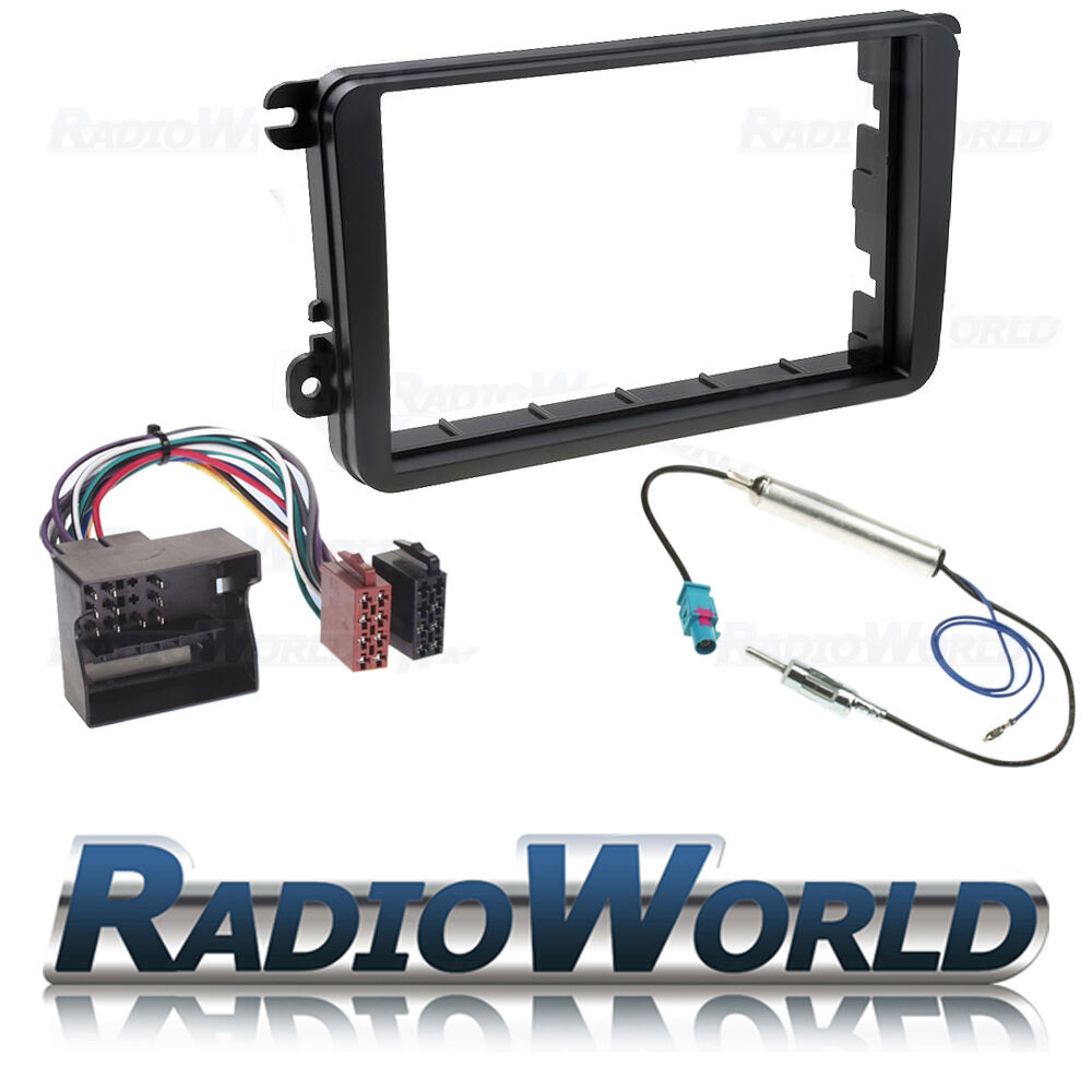 vw golf mk5 mkv double din stereo fitting kit facia wiring vw mk5 radio wiring cables