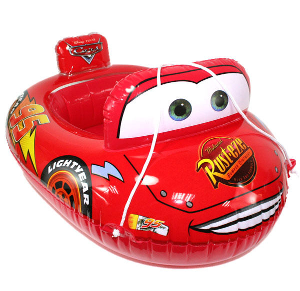 Baby Kids Toddler Lightning Mcqueen Swim Pool Boat Ring Raft Float Tube Seat Aid Ebay