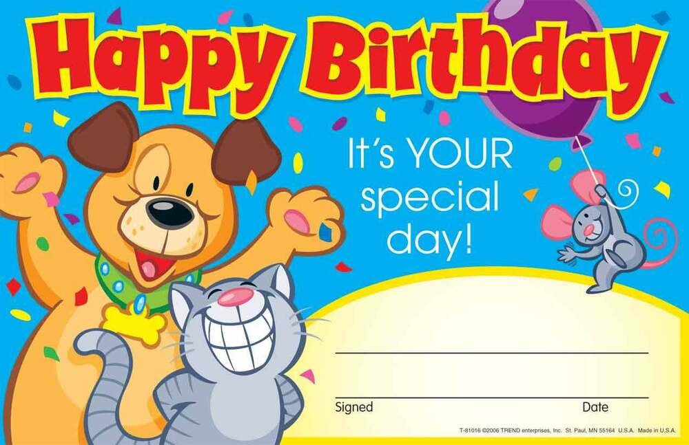 30 Kids Happy Birthday, Its your special Day Award children\'s ...