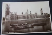 OLD POSTCARD OF HOUSES OF PARLIAMENT LONDON - FREE UK POSTAGE.