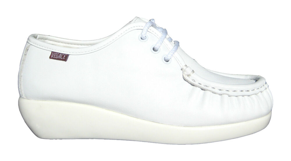 Cute White Leather Nursing Shoes
