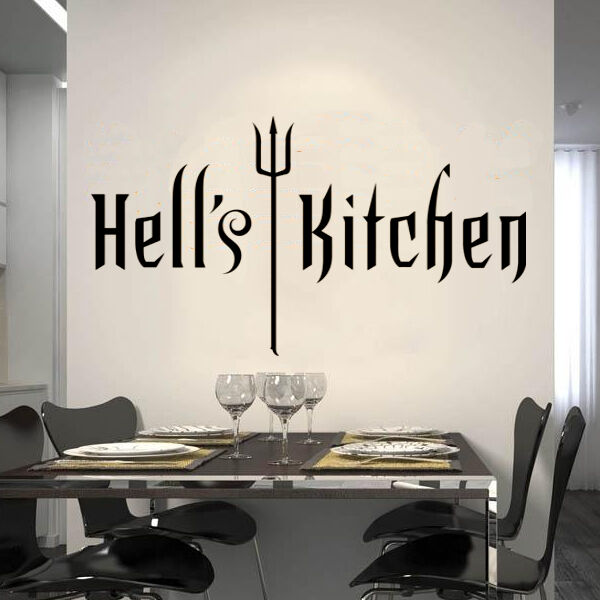 Watch Hells Kitchen: Hell's Kitchen WALL STICKER QUOTE ART DECAL Kitchen Decor
