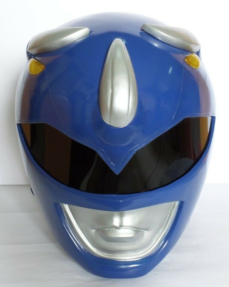 Super Ranger Hero Power Man Costume Helmet Color Blue