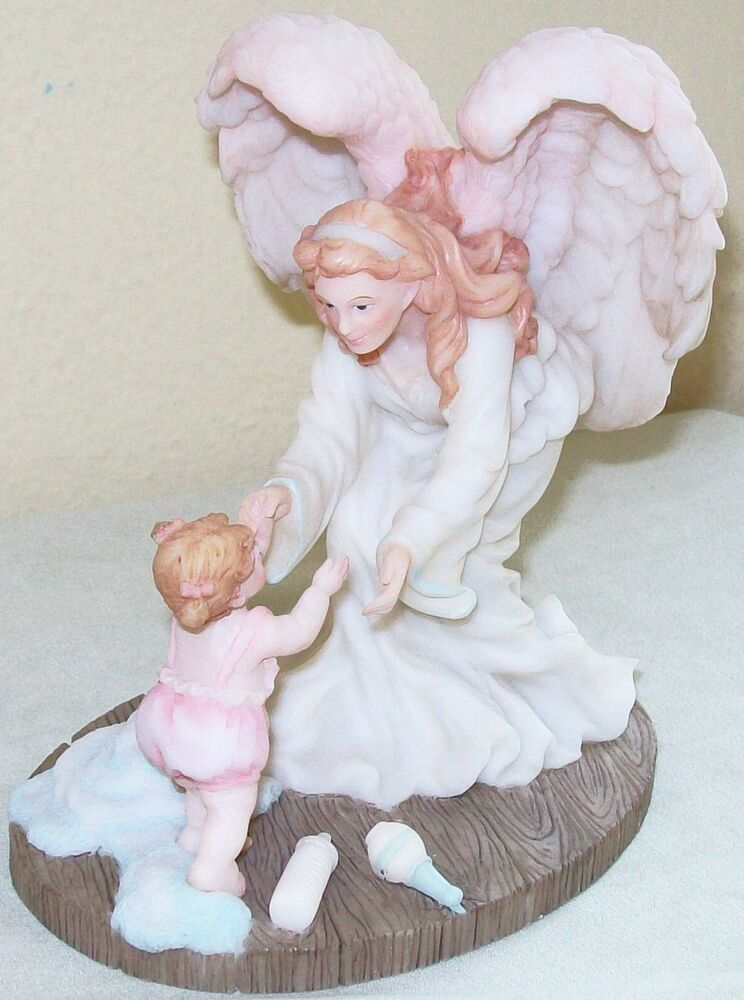 Angel Baby Gifts Uk : Guardian angel baby baptism gift christening quot statue