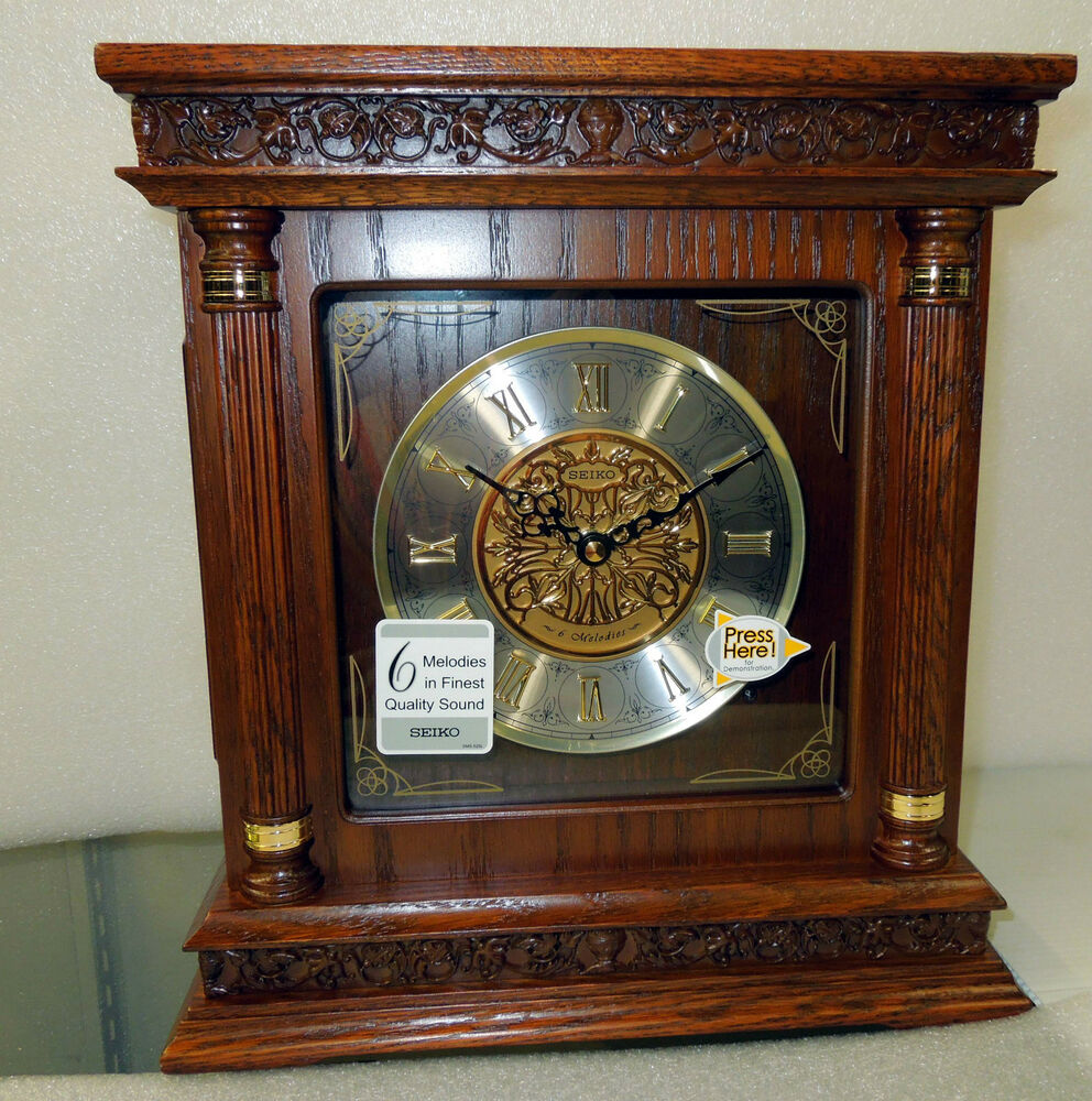 Seiko Square Melody In Motion Mantle Clock With 6
