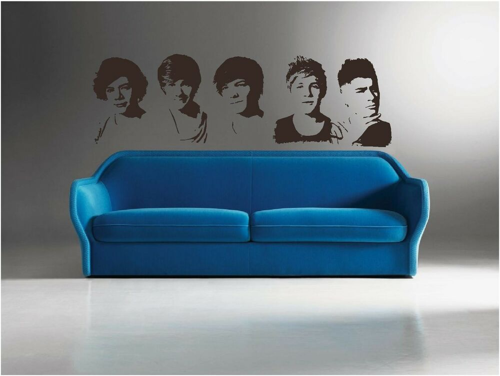 Diy One Direction Wall Decor : One direction portraits wall art decal sticker