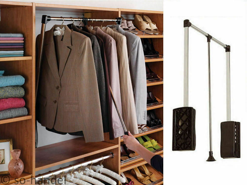kleiderlift garderobenlift kleiderstange wardrobelift lift kleiderschranklift ebay. Black Bedroom Furniture Sets. Home Design Ideas