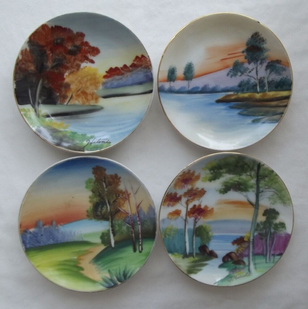 Hand Painted Plates Vintage