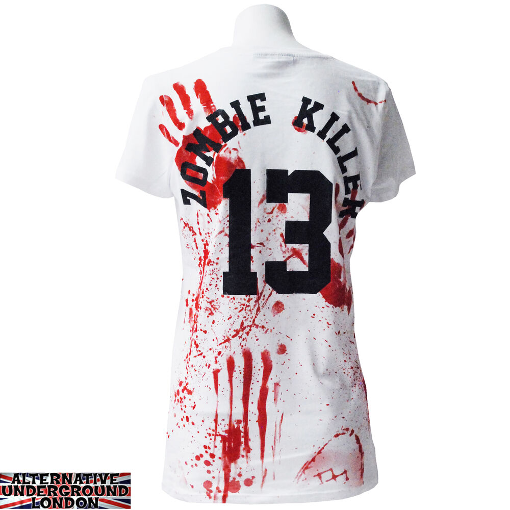 how to make a bloody zombie t shirt