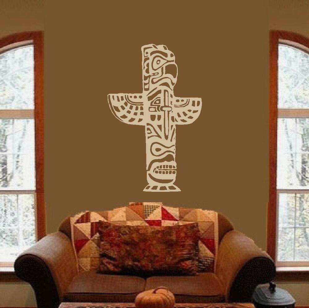 Indian Native American Totem Pole Culture Wall Art Decal Decals Stickers Mural Ebay