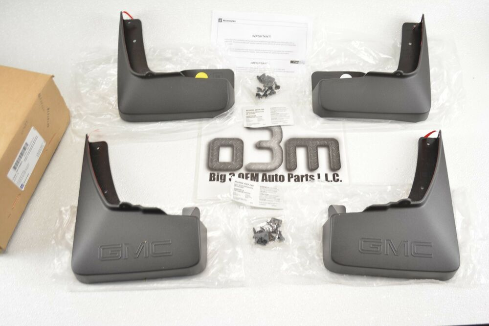 10 15 gmc terrain front rear molded mud flaps 4pc set. Black Bedroom Furniture Sets. Home Design Ideas