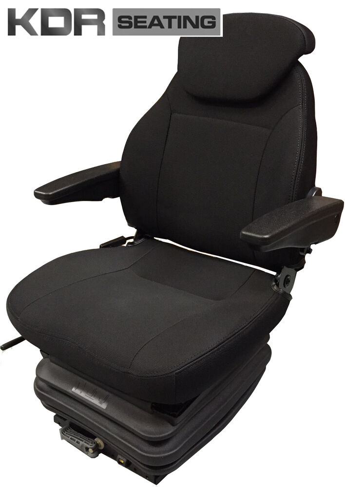 Tractor Seat Replacement : Deluxe tractor suspension seat fabric with armrests