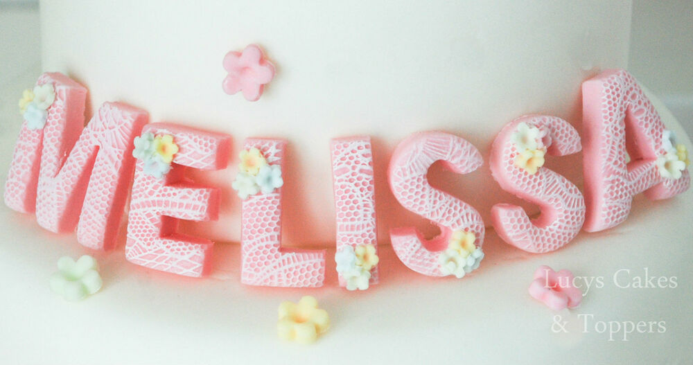 Edible Letter Cake Toppers