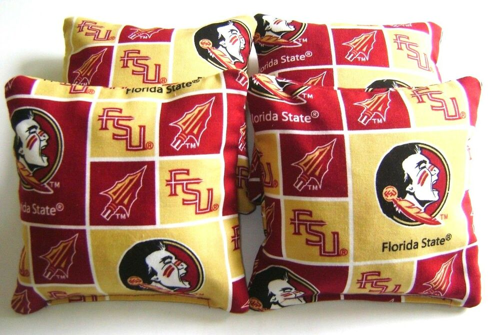 4 Cornhole Florida State Seminoles Bean Bag Corn Hole Fsu
