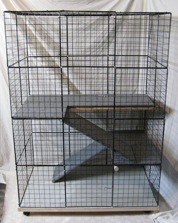 rabbit condo cage indoor big bunny cat deluxe hutch pet. Black Bedroom Furniture Sets. Home Design Ideas