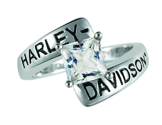 Harley davidson white topaz ring by the franklin mint ebay for Harley davidson jewelry ebay