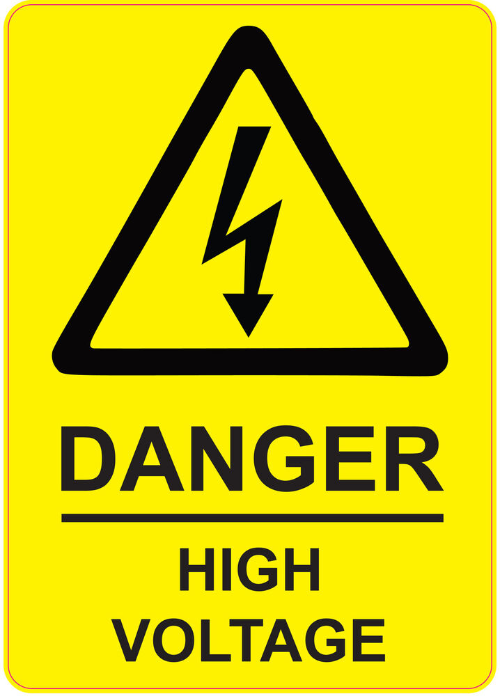 205x290mm Danger High Voltage Health And Safety