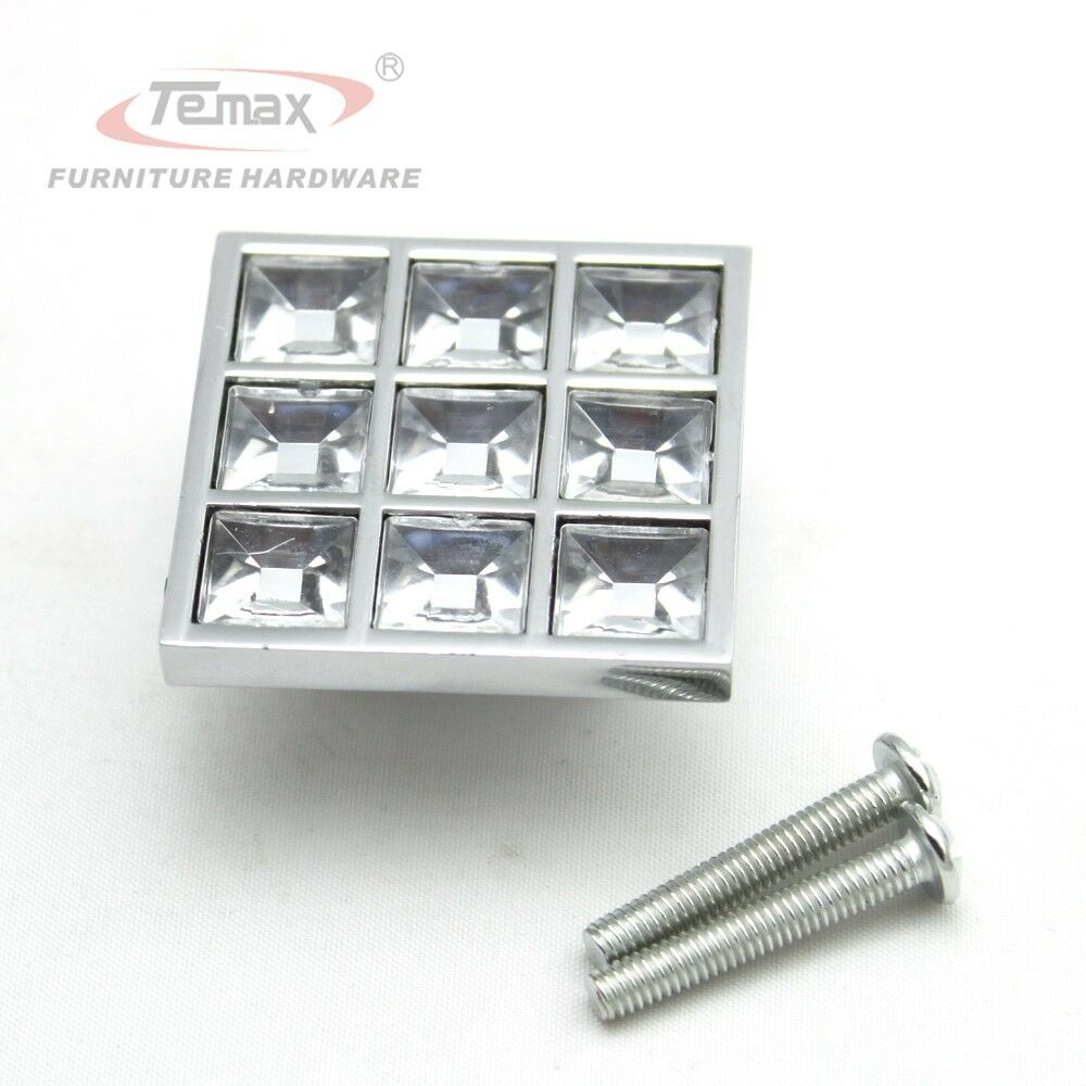 Crystal Knobs Kitchen Cabinets: 40MM Clear Crystal Zinc Alloy Square Type Cabinet Handle