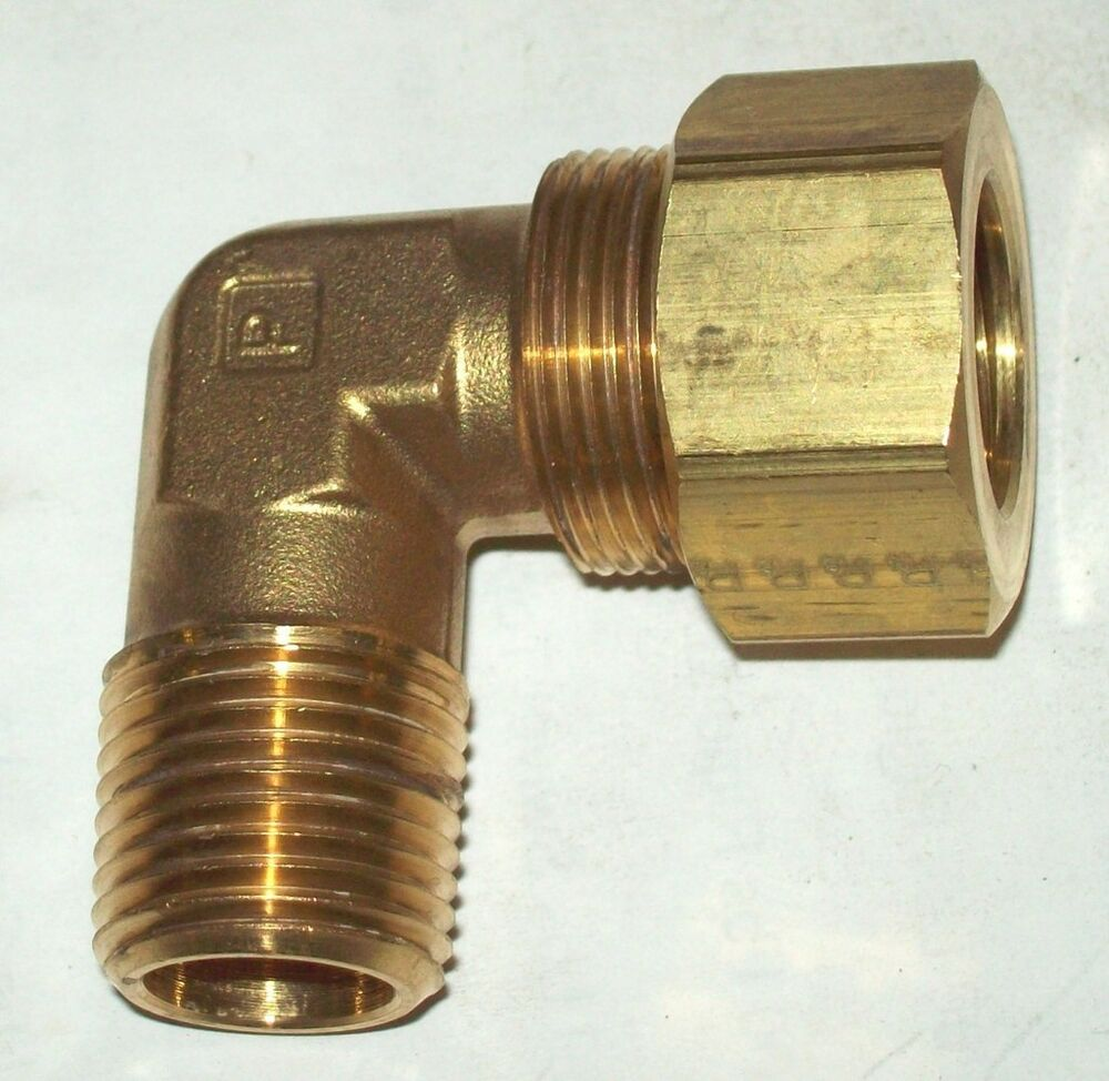 "GAR-69CE4X2 Compression Fitting 90 Degree 1/8"" NPT To 1/4 ...