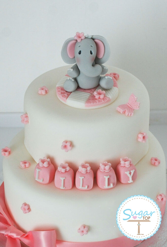 Elephant Themed Baby Cake