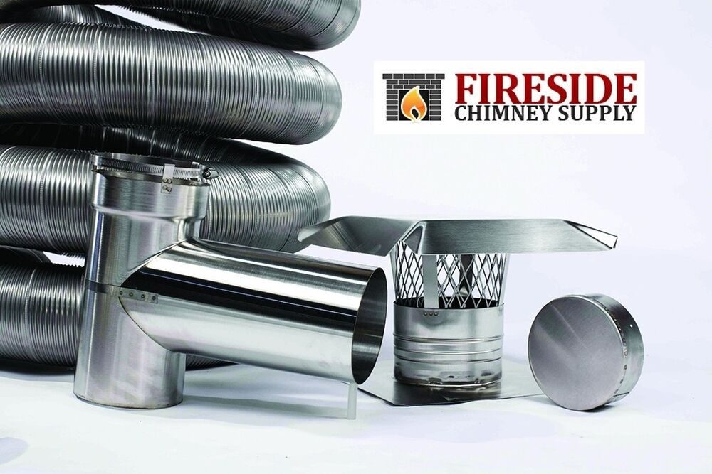4 Quot X 20 304 Stainless Steel Flexible Chimney Liner Pellet