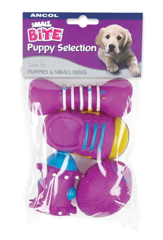 Little Puppy Toys : Ancol small bite pack of squeaky toys designed for