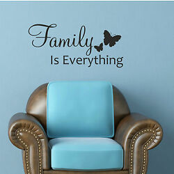 Family Is Everything Wall Sticker Decal Quote Art DIY Removable Words Adhesive