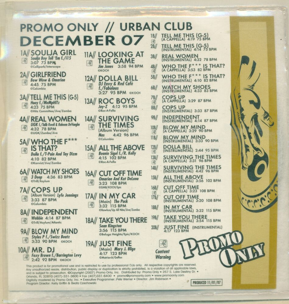 Various - Promo Only CD Underground Club Series February 1997