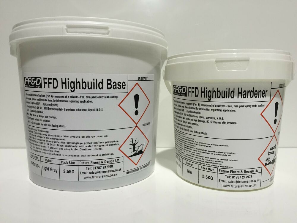 High build epoxy floor paint 2 5kg solvent free industrial grade for garages ebay - High build exterior paint set ...