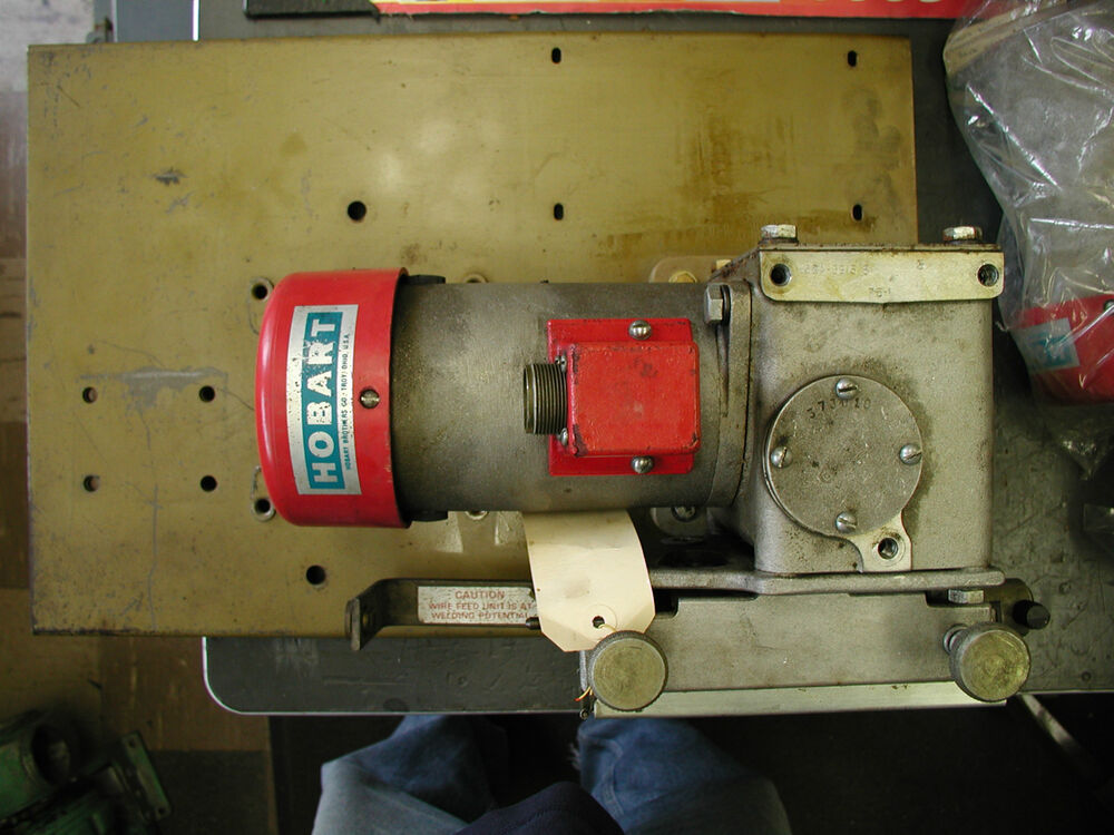 hobart wire feed motor and gearbox mounted on plate ebay