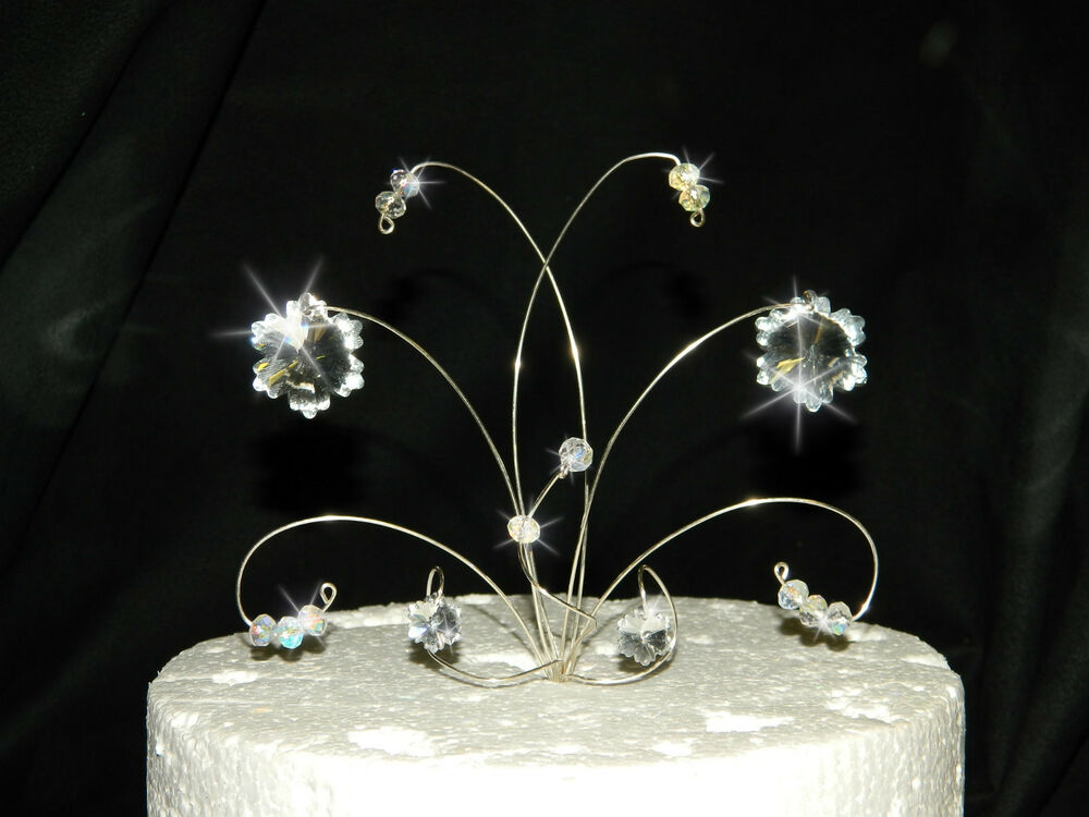 swarovski wedding cake topper swarovski elements snowflake wedding cake topper 20680
