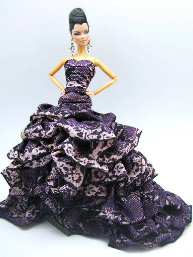 evening dress outfit gown poppy parker silkstone barbie fashion royalty monogram