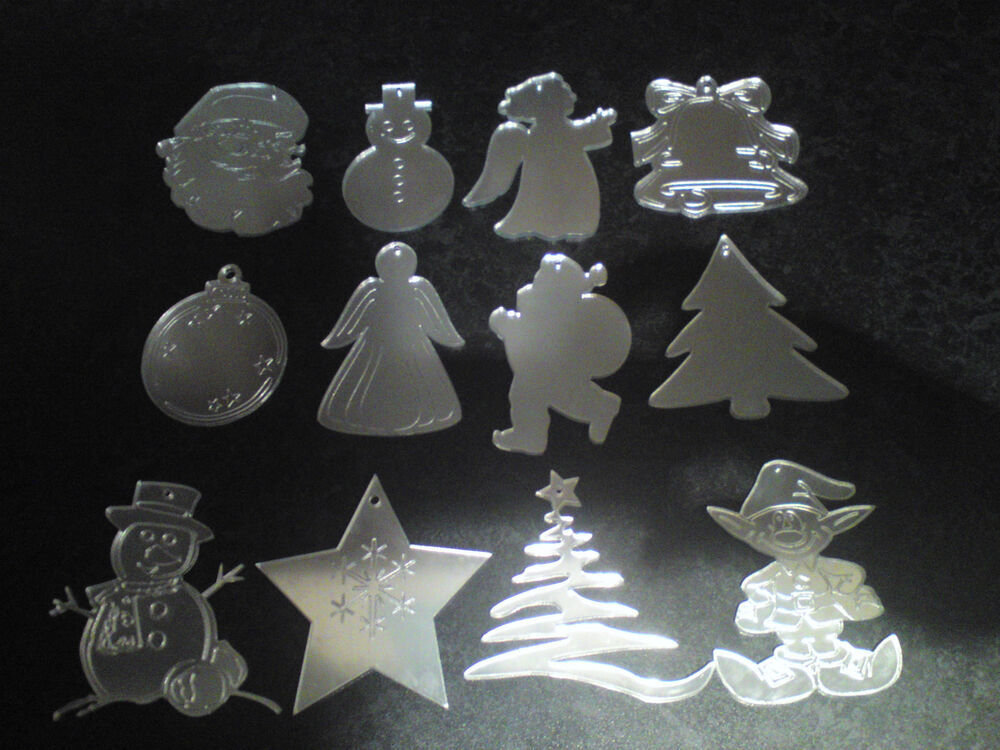 Mirrored christmas tree decorations acrylic mirror various for Acrylic decoration