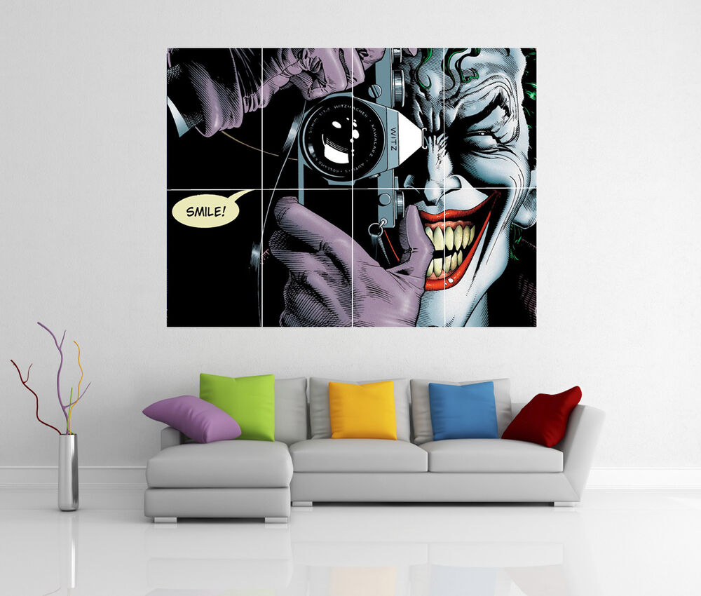 the joker batman the killing joke giant wall art picture print poster g103 ebay. Black Bedroom Furniture Sets. Home Design Ideas