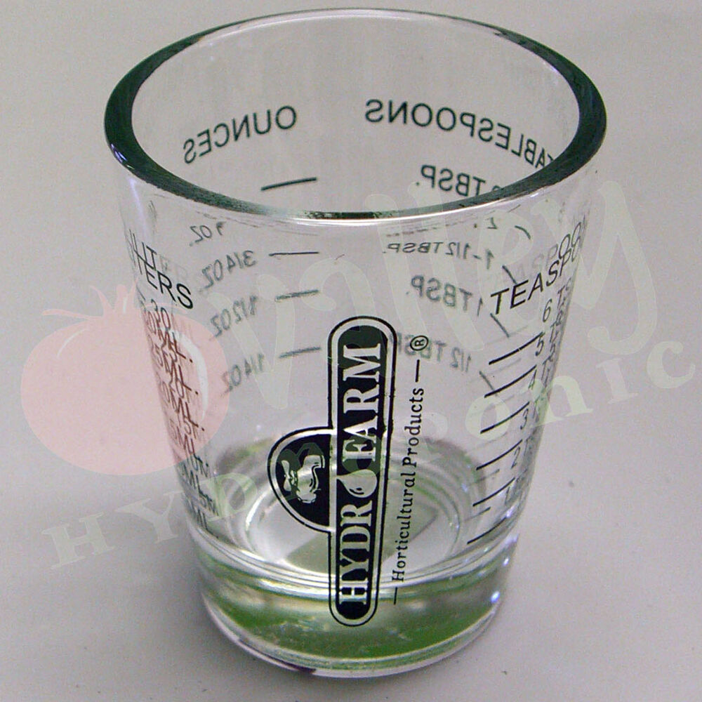 Hydrofarm mini measure shot glass 1 ounce small measuring for 8 tablespoons to cups