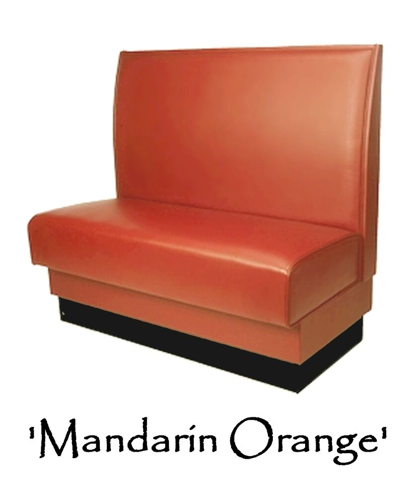 Restaurant Booth Mandarin Orange Custom Color Diner