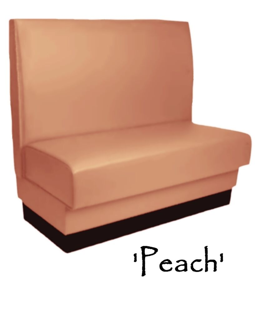 Restaurant Booth Peach Custom Color Diner Booth Grade 5