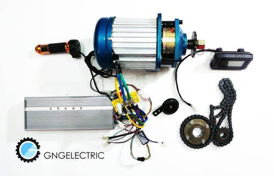 48v 60v 2500w Brushless Electric Motorized E Bike Car Conversion Kit Ebay