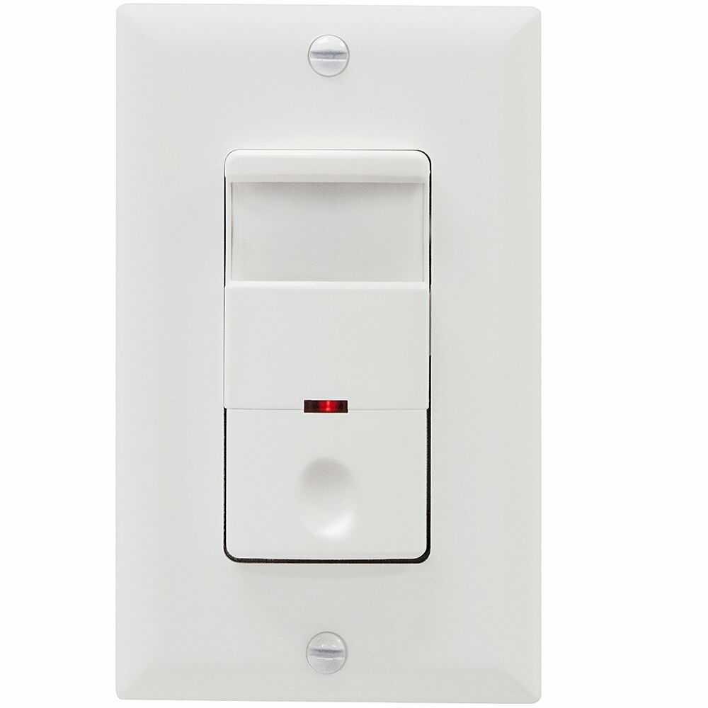 occupancy motion sensor light switch in wall pir detector white. Black Bedroom Furniture Sets. Home Design Ideas