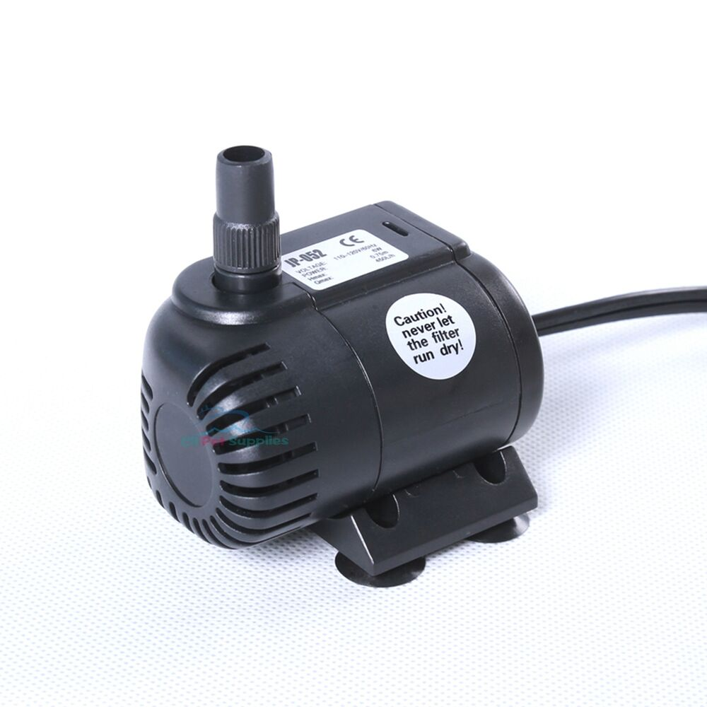 120 gph submersible pump aquarium fish tank powerhead for Fish water pump