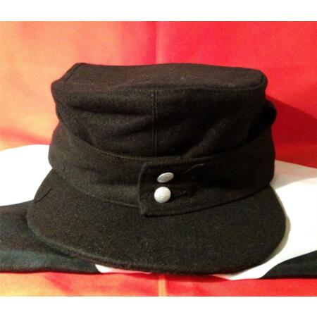 img-WW2 GERMAN Panzer M43 SKI CAP -Military Army Field Hat Black Size 59/61