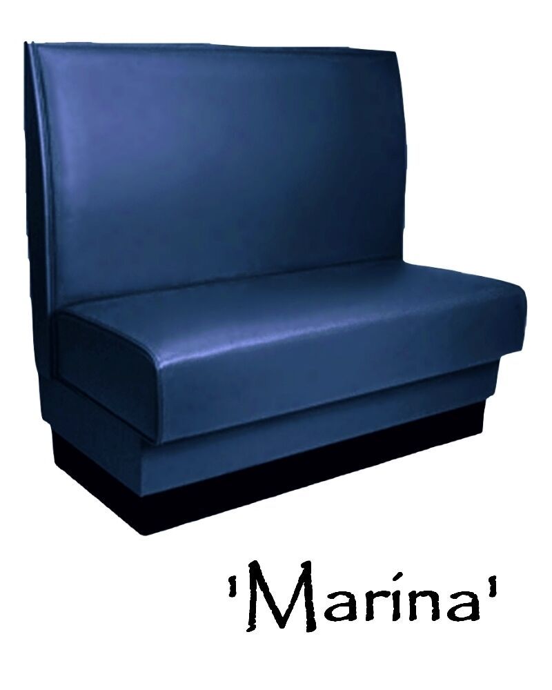 Restaurant Booth Custom Color Marina Blue Diner Booth