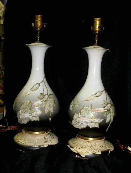 Fabulous Pair Hand Painted Signed Rosenthal German
