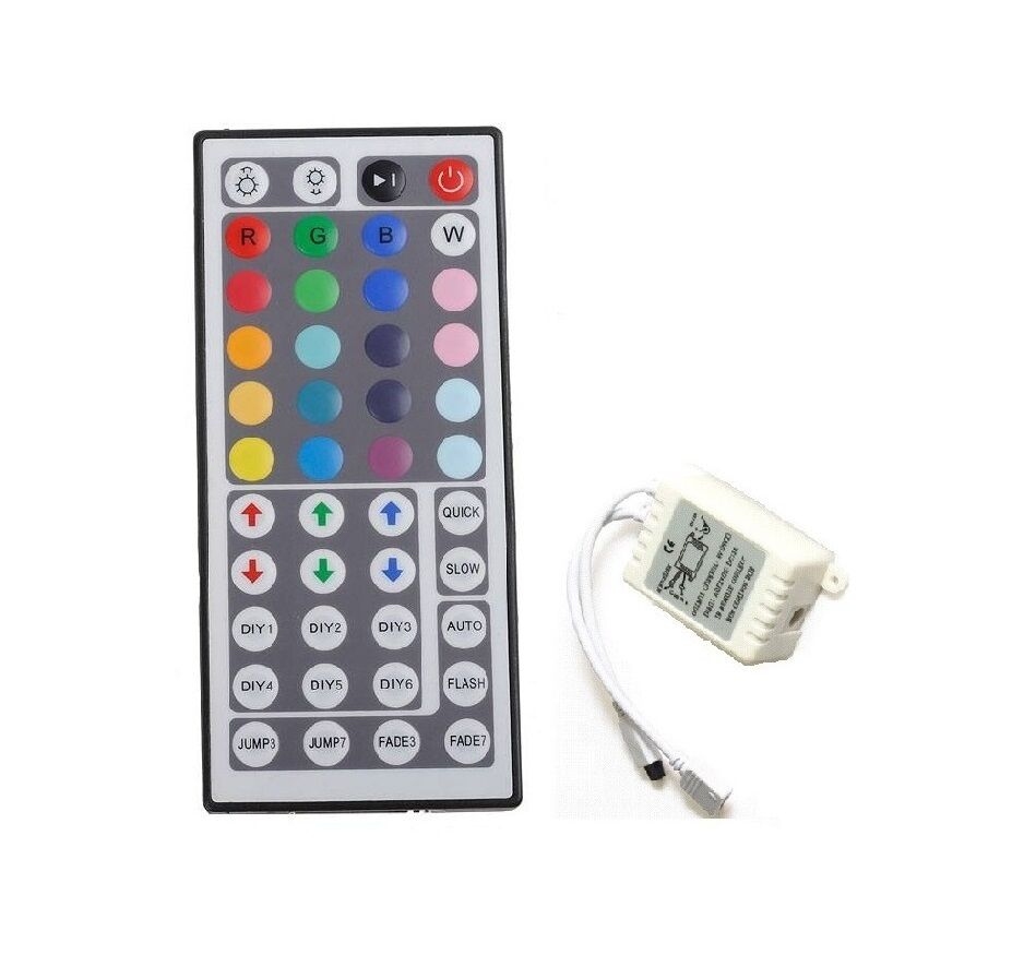 44 key fernbedienung ir controller kontroller steuerung smd led rgb strip band ebay. Black Bedroom Furniture Sets. Home Design Ideas
