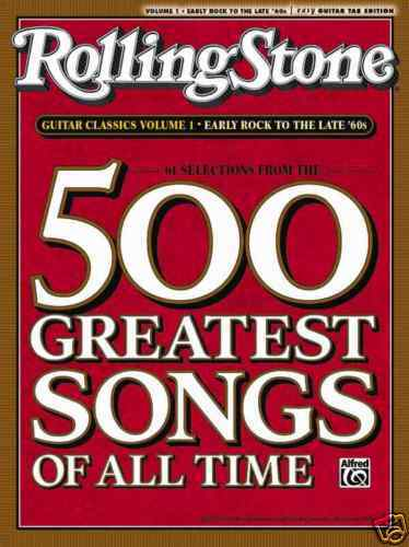 rolling stone 39 s 500 greatest songs guitar tab book ebay. Black Bedroom Furniture Sets. Home Design Ideas