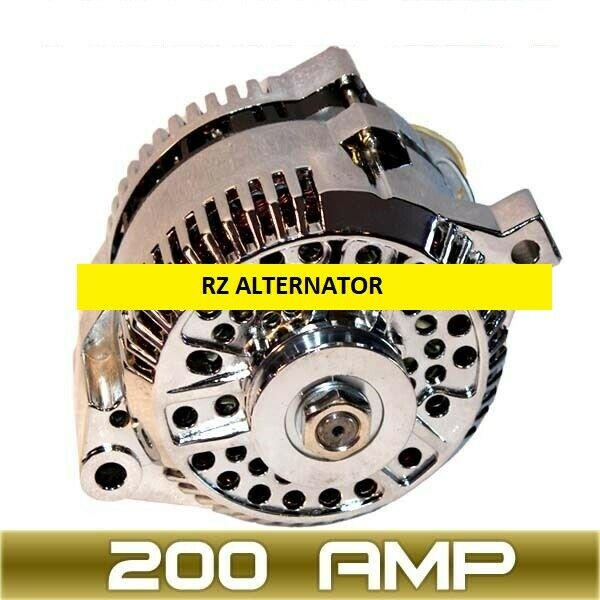 high amp alternator fits ford mustang chrome 1 wire 1965. Black Bedroom Furniture Sets. Home Design Ideas
