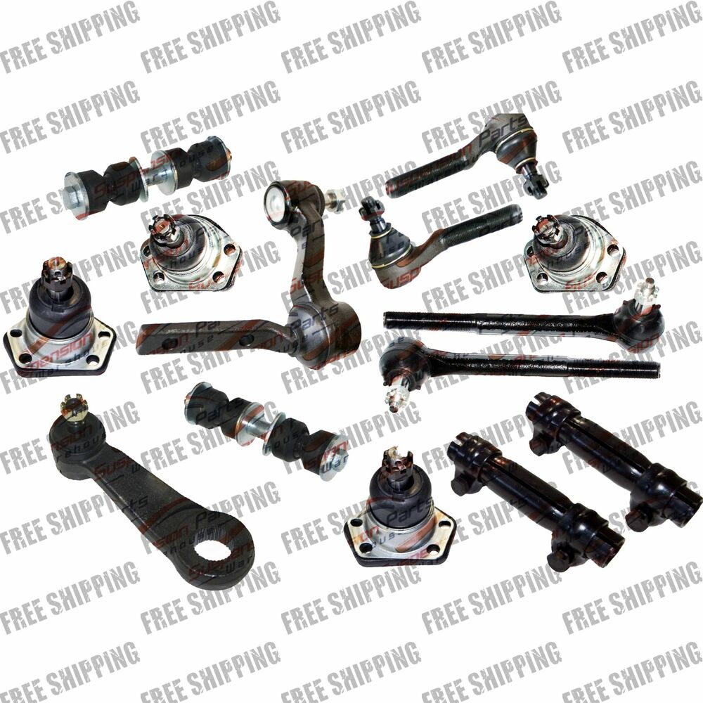 8 Piece Suspension Control Arm Tie Rod Kit Front For 92 96: BALL JOINT TIE ROD SWAY BAR SLEEVE PITMAN IDLER ARM 1996