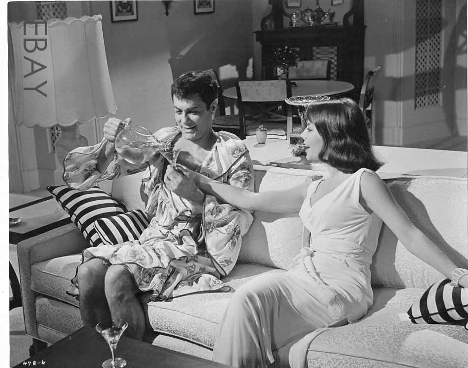 Natalie Wood Busty, Tony Curtis Vintage Photo Sex And The -5504