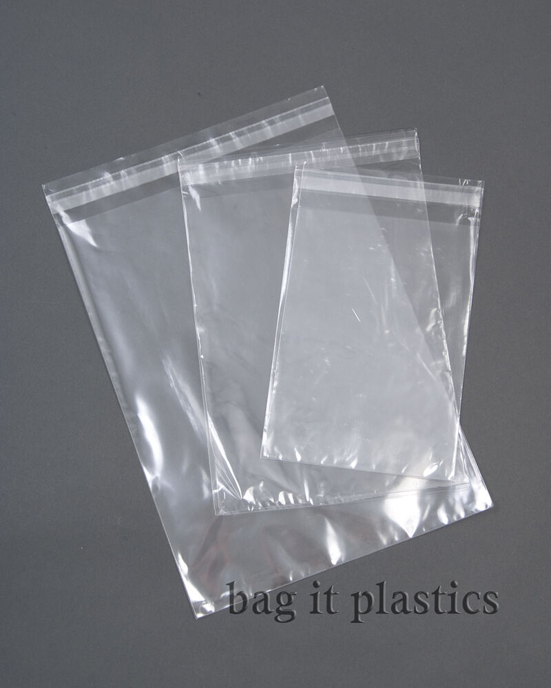 Clear cellophane self seal greeting card bags display