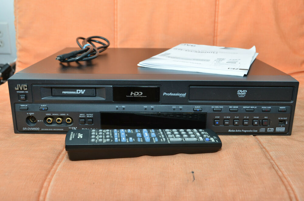 jvc mini dv hdd dvd video recorder player ebay. Black Bedroom Furniture Sets. Home Design Ideas